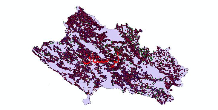 دانلود نقشه شیپ فایل آمار جمعیت نقاط شهری و نقاط روستایی استان لرستان از سال 1335 تا 1395