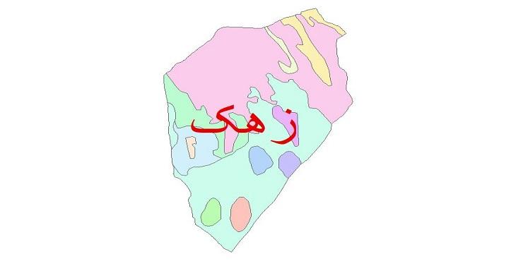 دانلود نقشه شیپ فایل زمین شناسی شهرستان زهک