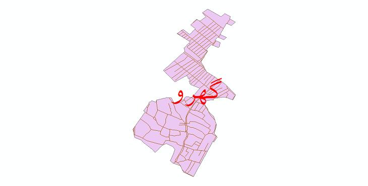 دانلود نقشه شیپ فایل شبکه معابر شهر گهرو سال 1399