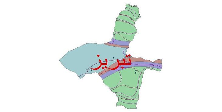 دانلود شیپ فایل اقلیمی شهرستان تبریز