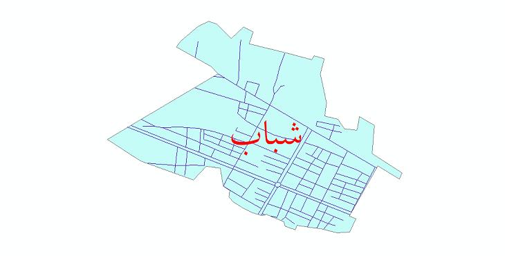 دانلود نقشه شیپ فایل شبکه معابر شهر شباب سال 1399
