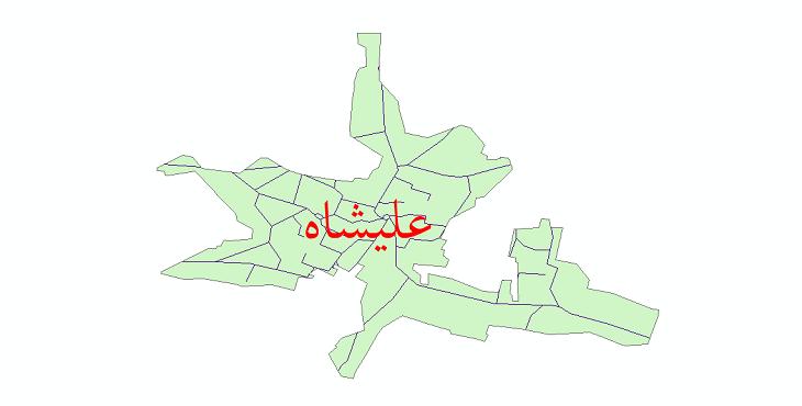 دانلود نقشه شیپ فایل شبکه معابر شهر علیشاه سال 1399