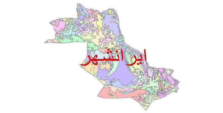 دانلود نقشه شیپ فایل زمین شناسی شهرستان ایرانشهر