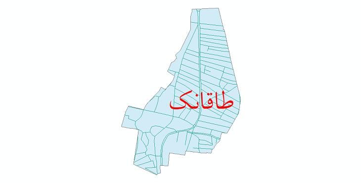 دانلود نقشه شیپ فایل شبکه معابر شهر طاقانک سال 1399