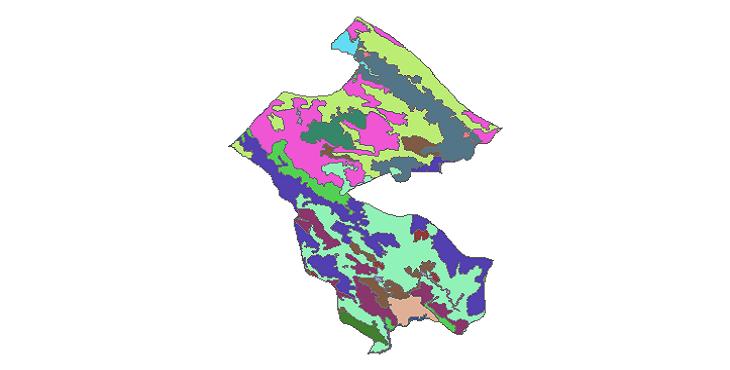 شیپ فایل کاربری اراضی شهرستان اردل