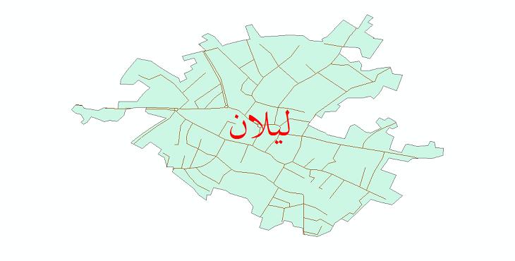 دانلود نقشه شیپ فایل شبکه معابر شهر لیلان سال 1399