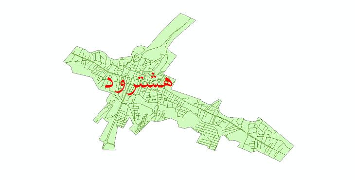 دانلود نقشه شیپ فایل شبکه معابر شهر هشترود سال 1399