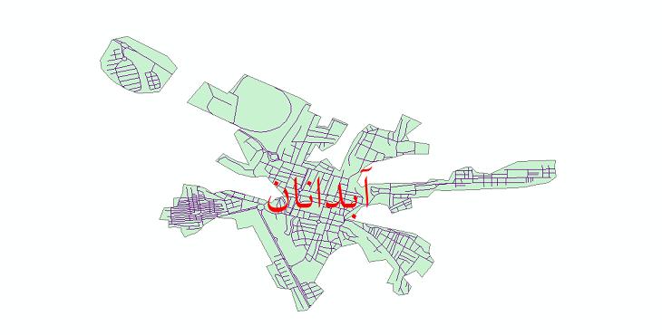 دانلود نقشه شیپ فایل شبکه معابر شهر آبدانان سال 1399