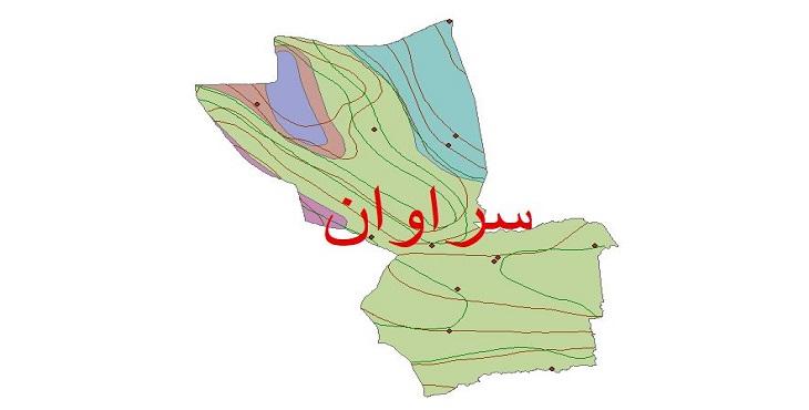 دانلود شیپ فایل اقلیمی شهرستان سراوان