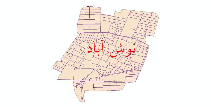 دانلود نقشه شیپ فایل شبکه معابر شهر نوش آباد سال 1399