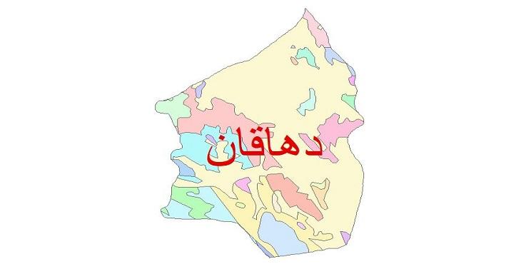 دانلود نقشه شیپ فایل زمین شناسی شهرستان دهاقان