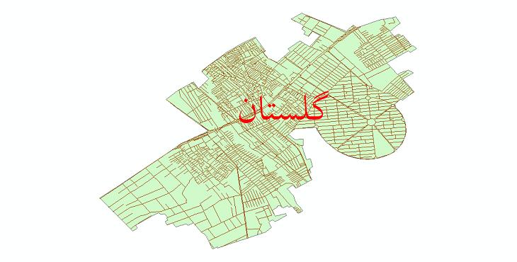 دانلود نقشه شیپ فایل شبکه معابر شهر گلستان سال 1399