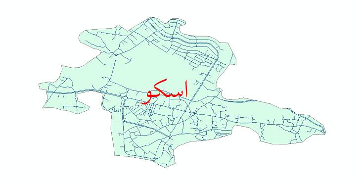 دانلود نقشه شیپ فایل شبکه معابر شهر اسکو سال 1399