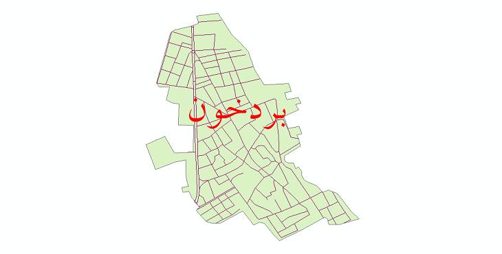 دانلود نقشه شیپ فایل شبکه معابر شهر بردخون سال 1399