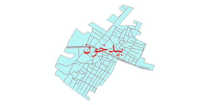 دانلود نقشه شیپ فایل شبکه معابر شهر بیدخون سال 1399