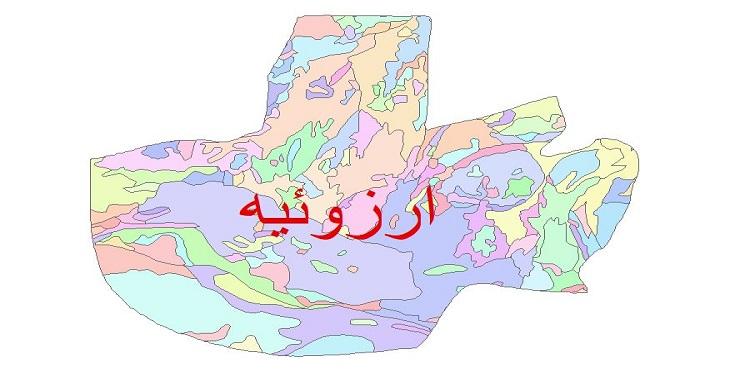 دانلود نقشه شیپ فایل زمین شناسی شهرستان ارزوئیه
