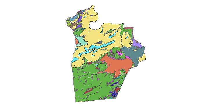 شیپ فایل کاربری اراضی شهرستان شاهرود