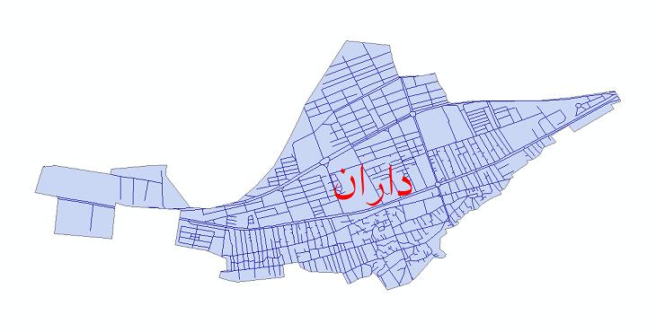 دانلود نقشه شیپ فایل شبکه معابر شهر داران سال 1399