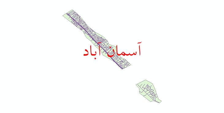 دانلود نقشه شیپ فایل شبکه معابر شهر آسمان آباد سال 1399