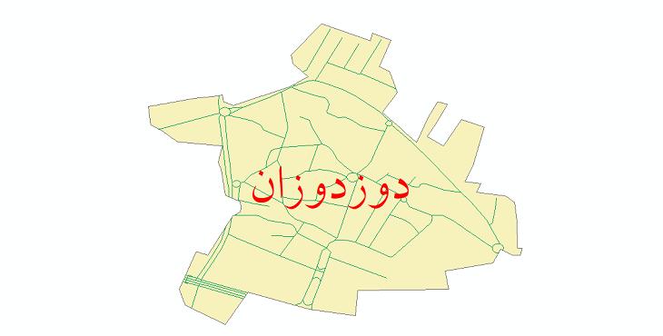 دانلود نقشه شیپ فایل شبکه معابر شهر دوزدوزان سال 1399