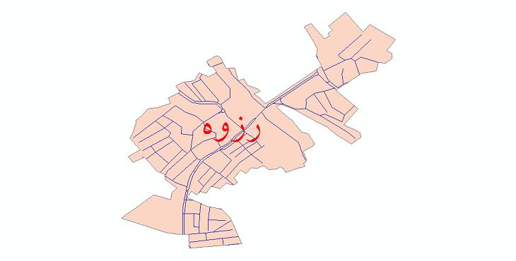 دانلود نقشه شیپ فایل شبکه معابر شهر رزوه سال 1399