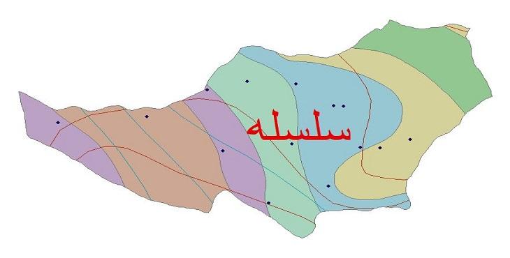 دانلود شیپ فایل اقلیمی شهرستان سلسله
