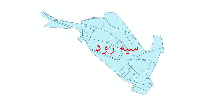 دانلود نقشه شیپ فایل شبکه معابر شهر سیه رود سال 1399