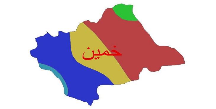 دانلود شیپ فایل اقلیمی شهرستان خمین