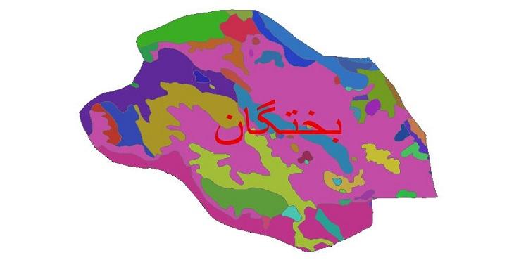 دانلود نقشه شیپ فایل زمین شناسی شهرستان بختگان