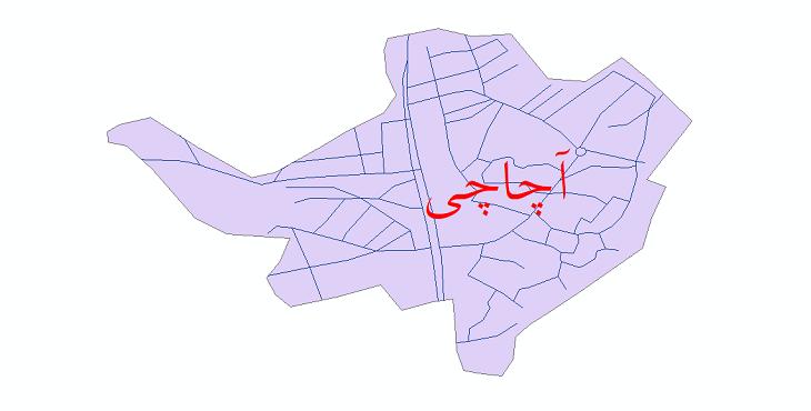 دانلود نقشه شیپ فایل شبکه معابر شهر آچاچی سال 1399