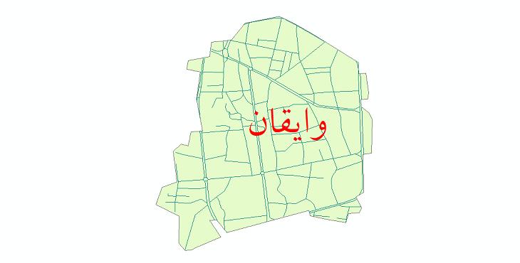 دانلود نقشه شیپ فایل شبکه معابر شهر وایقان سال 1399