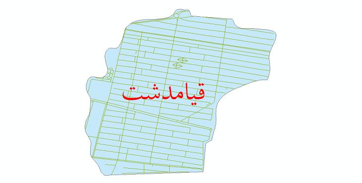 دانلود نقشه شیپ فایل شبکه معابر شهر قیامدشت سال 1399