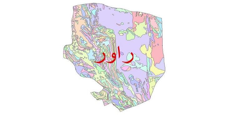 دانلود نقشه شیپ فایل زمین شناسی شهرستان راور