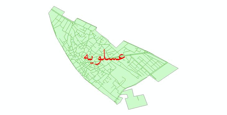 دانلود نقشه شیپ فایل شبکه معابر شهر عسلویه سال 1399