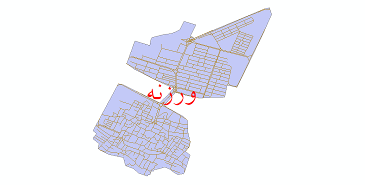 دانلود نقشه شیپ فایل شبکه معابر شهر ورزنه سال 1399