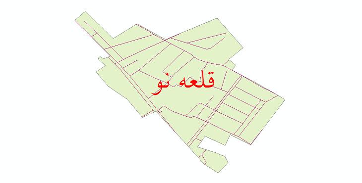 دانلود نقشه شیپ فایل شبکه معابر شهر قلعه نو سال 1399