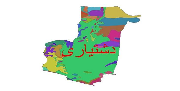 دانلود نقشه شیپ فایل زمین شناسی شهرستان دشتیاری