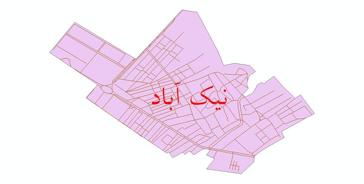 دانلود نقشه شیپ فایل شبکه معابر شهر نیک آباد سال 1399