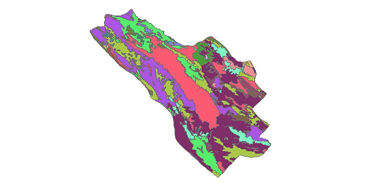 شیپ فایل کاربری اراضی شهرستان کوهرنگ