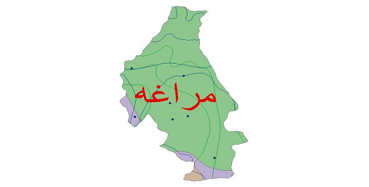 دانلود شیپ فایل اقلیمی شهرستان مراغه