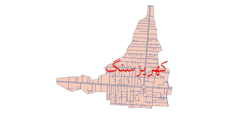 دانلود نقشه شیپ فایل شبکه معابر شهر کهریزسنگ سال 1399