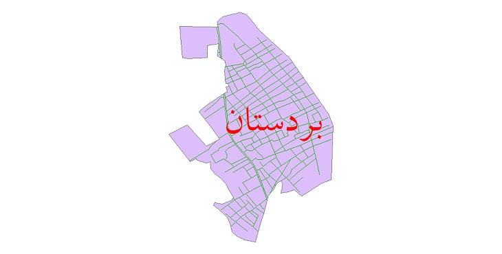 دانلود نقشه شیپ فایل شبکه معابر شهر بردستان سال 1399
