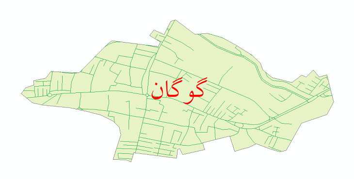 دانلود نقشه شیپ فایل شبکه معابر شهر گوگان سال 1399