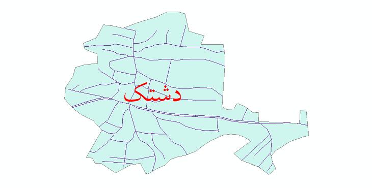 دانلود نقشه شیپ فایل شبکه معابر شهر دشتک سال 1399