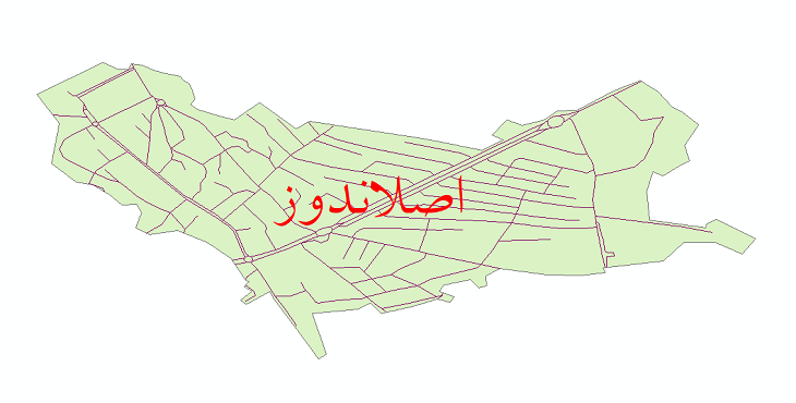 دانلود نقشه شیپ فایل شبکه معابر شهر اصلاندوز سال 1399