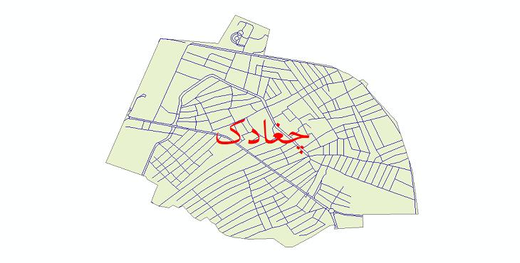 دانلود نقشه شیپ فایل شبکه معابر شهر چغادک سال 1399