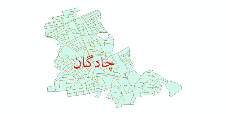 دانلود نقشه شیپ فایل شبکه معابر شهر چادگان سال 1399