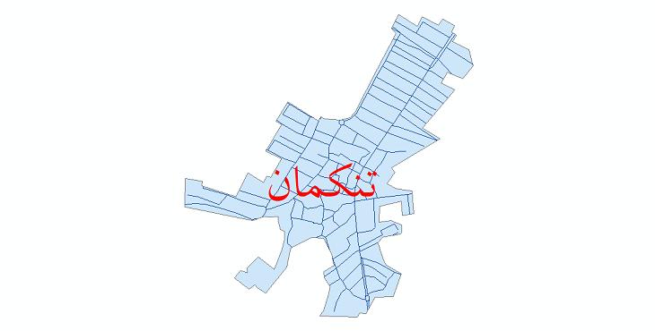 دانلود نقشه شیپ فایل شبکه معابر شهر تنکمان سال 1399