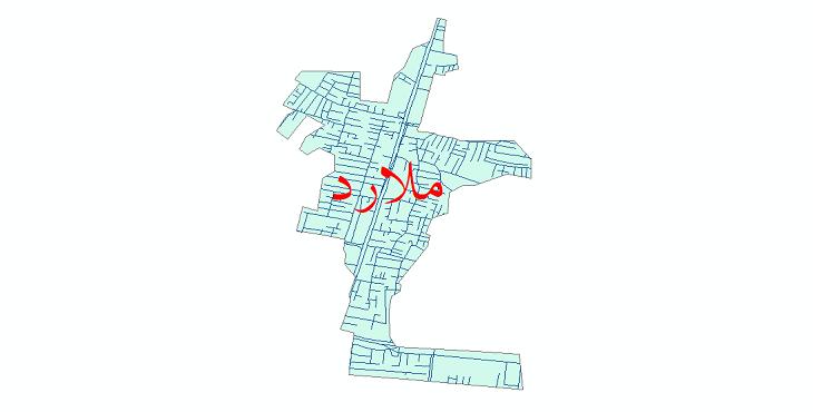 دانلود نقشه شیپ فایل شبکه معابر شهر ملارد سال 1399