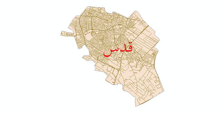 دانلود نقشه شیپ فایل شبکه معابر شهر قدس سال 1399